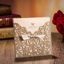 wedding wishes envelope aliexpress buy wishmade gold laser cut wedding invitations
