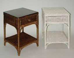Wicker Accent Table White Wicker Nightstand Wicker Bedside Table