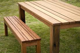 table with bench seat wooden garden table bench seats fantastic modern wooden garden