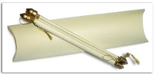 Scroll Invitation Handmade Ivory Silk Paper Scroll Invitation W Box