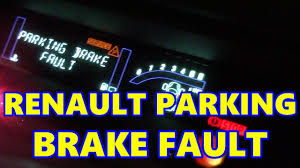 renault scenic electronic parking brake fault handbrake e brake