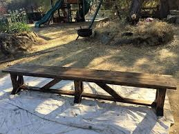 diy extra long outdoor wood bench hometalk