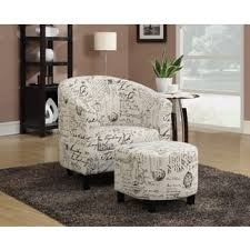 Accent Chair With Ottoman Chair Ottoman Sets Living Room Chairs Shop The Best Deals For
