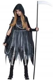 Halloween Costumes Figured Women Grim Reaper Costumes Horror Robe Dead Soul Taker Costumes