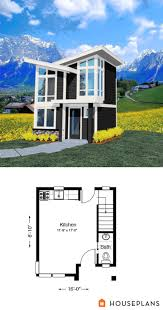 tiny 2 story modern house plan 502sft 1br 1 5 ba houseplans