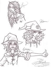 hp hogwarts girls sketches by ravenscarlett on deviantart