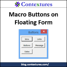 excel macro buttons on floating form contextures blog