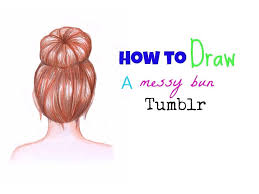 how to draw a messy bun hair youtube