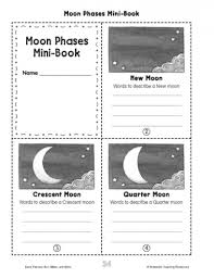 minibook moon phases parents scholastic