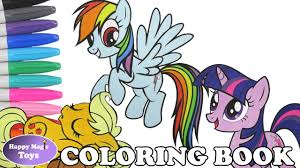 mlp coloring book pages compilation dashie applejack twilight my