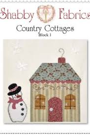 block 8 country cottage shabby fabrics free patterns applique