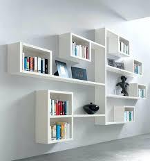 creative shelving wall display shelves modern wall mounted bookshelves terrific