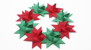 origami froebel wreath traditional