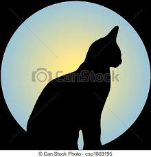 cat in front of moon stock illustrations search clipart
