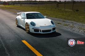 porsche gold porsche 911 gt3 with hre p106cl in brushed gold full set