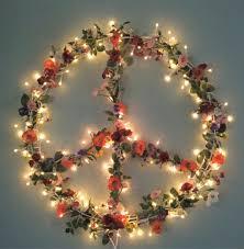 peace hippie boho floral christmas peace sign wreath my peace hippie boho floral christmas peace sign wreath