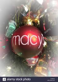 macy s tree ornament on display in the stores