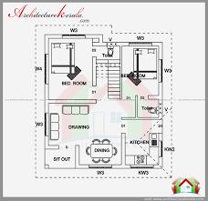 floor plan for 2 bedroom house 2 bedroom house plan and elevation in 700 sqft 700sq ft floor