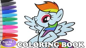 rainbow dash coloring book page my little pony rainbow dash