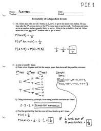 worksheets probability worksheet pdf opossumsoft worksheets and