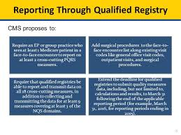 pqrs registries cms proposals for quality reporting programs the 2015