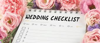planning a wedding a checklist before the wedding checklist