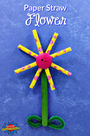 straw flowers how to make a paper straw flower craft