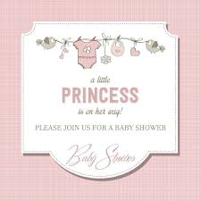 beautiful baby shower card vector free