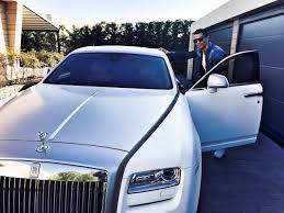 rolls royce roll royce cristiano ronaldo leaves for training in his rolls royce ghost