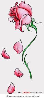 fallen petal tattoos designs to enlarge the