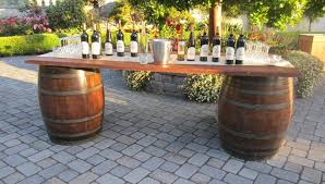 whiskey barrel bar table whiskey barrel bar farm table top tent and party rentals company