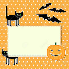 halloween card with funny black cat royalty free cliparts vectors