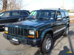 blue green jeep 2001 jeep cherokee sport 4x4 in forest green pearlcoat 624347