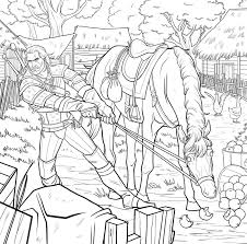 the witcher gets coloring book adaptation indie obscura