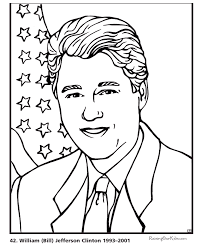 free printable coloring pages of us presidents bill clinton coloring pages