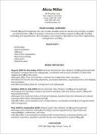 receptionist resume templates bilingual receptionist resume template best design tips