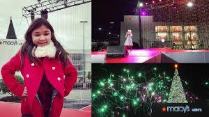 lenox tree lighting 2017 angelica hale in atlanta macy s tree lighting at lenox square youtube