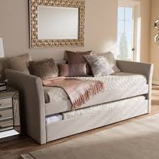 baxton studio kassandra modern and contemporary daybed with guest