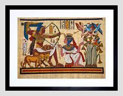 ancient egyptian mural pharaoh queen archery arrow bow framed ancient egyptian mural pharaoh queen archery arrow bow