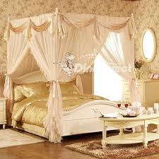 Lace Bed Canopy Gorgeous Lace Bed Canopy Qirtie 4 Poster Modern Luxurious Lace