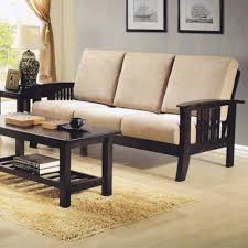 Three Seater Wooden Sofa Designs Nova 330 3 Seater Wooden Sofa With Cushions Free Delivery