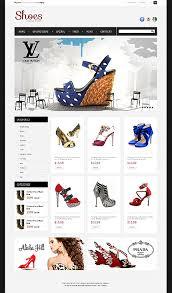 custom website design shoe store templates custom website