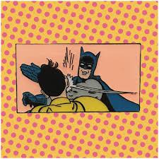 Batman Slapping Robin Meme - bat slap retro batman robin meme enamel pin robin meme life