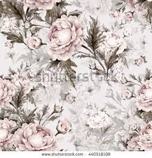 seamless watercolor pattern roses butterflies p stock illustration
