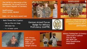 Central Michigan University Map by German Armed Forces Proficiency Badge Central Michigan University