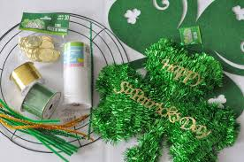 st patricks day dollar store mesh wreath made in a day