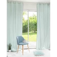 maison du monde coussin de sol tenda blu in cotone a motivi con occhielli 110 x 250 cm drapes