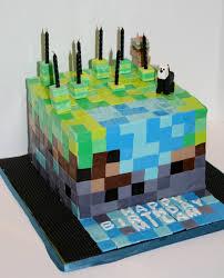 mindcraft cake edge desserts birthday cakes