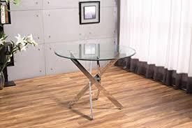 chrome round dining table new novara chrome round circular glass round dining table and 4 faux