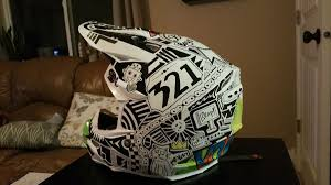 custom motocross helmet painting sharpie custom helmet moto related motocross forums message